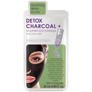 Skin Republic Detox Charcoal + Face Mask Sheet