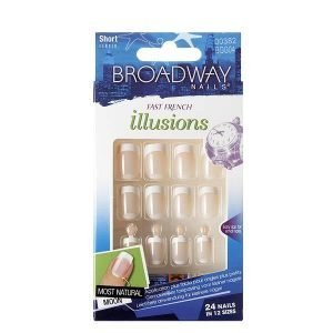 Broadway Nails Fast French Illusions Short 24 Pack