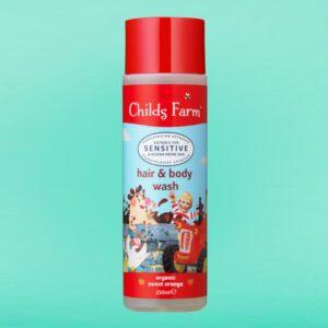 Childs Farm hair & body wash, organic sweet orange 250ml