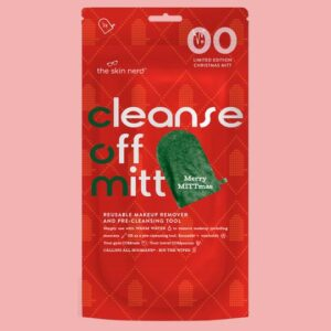 Skingredients Cleanse Off Mitt - Limited Edition Christmas Green