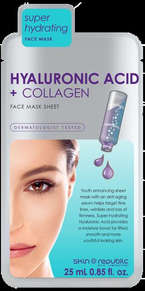 Skin Republic Hyluronic Acid + Collagen Sheet Mask 25ml
