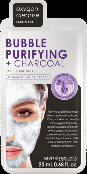 Skin Republic Bubble Purifying + Charcoal Mask Sheet 20ml